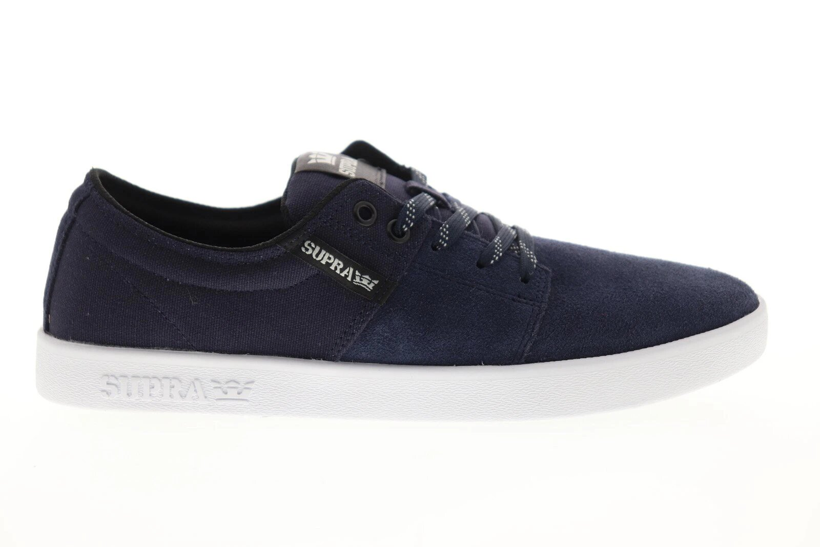 Détails sur Chaussures SUPRA STACKS II navy white white homme