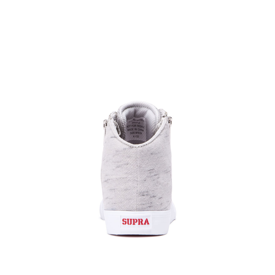 White Cuttler Grey Supra Chaussures Womens wpURRH