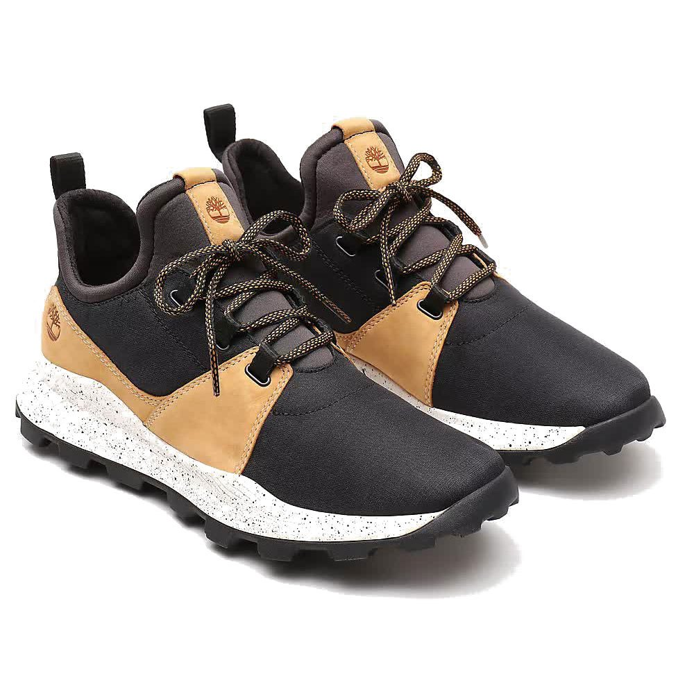 Détails sur Chaussures TIMBERLAND BROOKLYN LEATHER FABRIC OX black ripstop