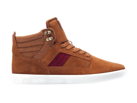 chaussure supra bandit brown red herringbone wht