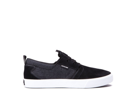 Chaussures SUPRA FLOW black black denim white 08325-021-M