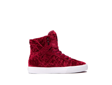 SUPRA KIDS SKYTOP dark ruby white