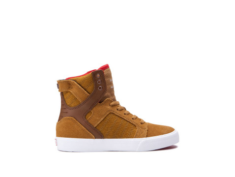 SUPRA KIDS SKYTOP tan white