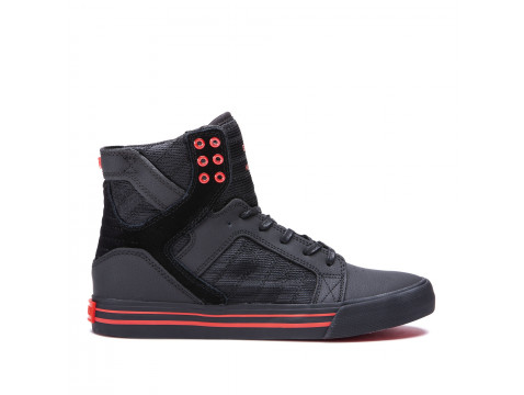 Chaussures SUPRA SKYTOP black black risk red_08174-053-M front