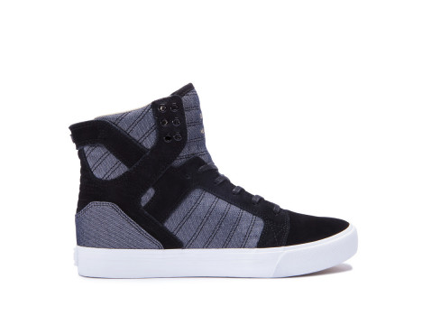 Chaussures SUPRA SKYTOP Black white Fall17