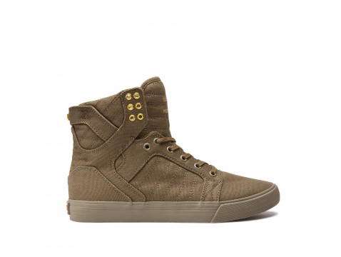Chaussures SUPRA SKYTOP olive_08002-309-M front