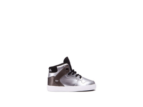 SUPRA TODDLER VAIDER Silver black white
