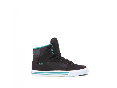 Chaussures SUPRA VAIDER black teal white_58200-056-M front