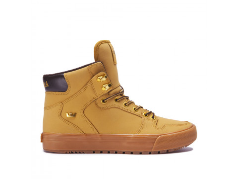 Chaussures SUPRA VAIDER CW amber gold light gum_08043-715-M front