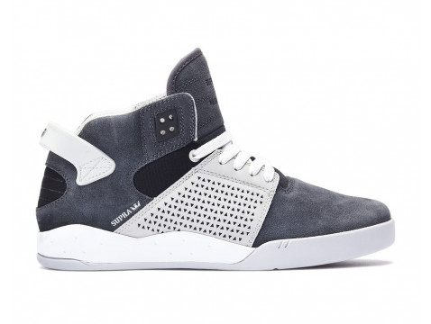 Chaussures Supra skytop III grey gradient white