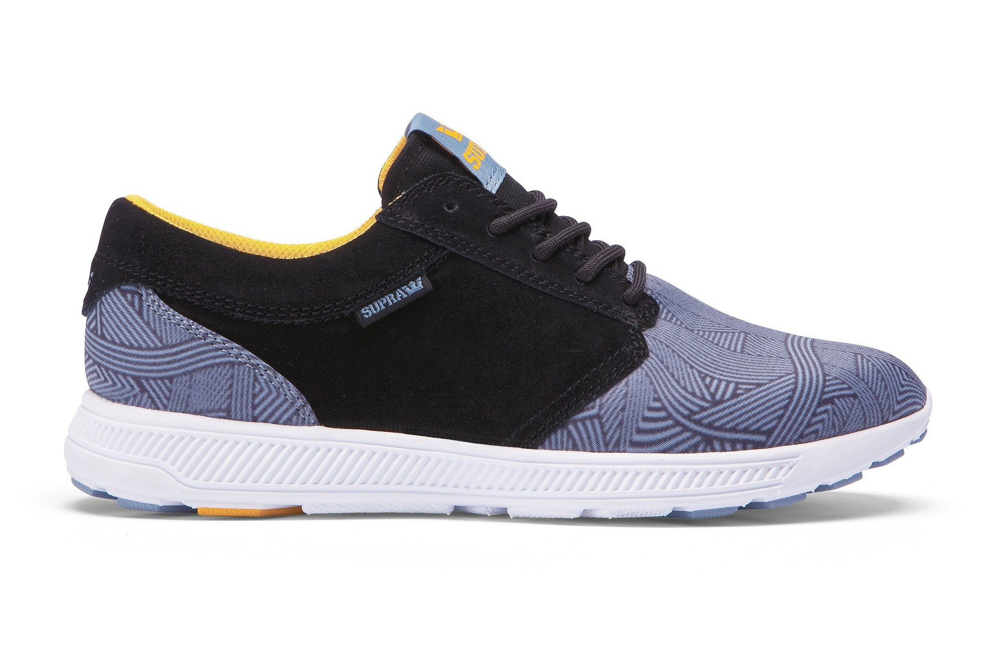 Supra Chaussures  HAMMER RUN Black blue print white Multicolore - Chaussures Baskets basses Homme