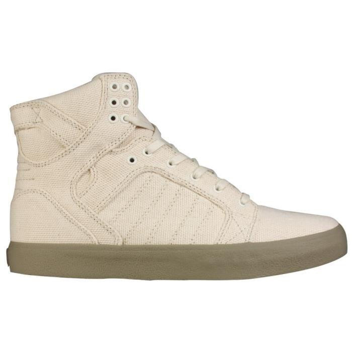SUPRA Sneakers Homme Skytop Off White Canvas Gum Beige 1 -V0Wt1Vc