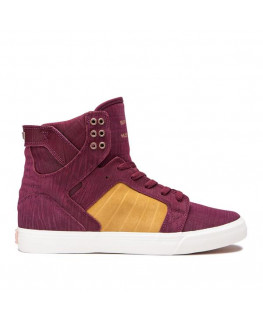 Chaussures SUPRA SKYTOP wine tan bone_08003-694-M front