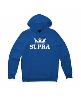 Sweat à capuche SUPRA ABOVE PULLOVER HOOD ocean white white_104201-474 front