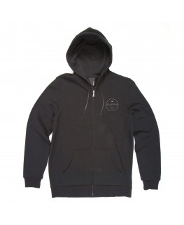 Sweat Capuche SUPRA ZIP CIRCLE Black