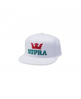 Casquette SUPRA ABOVE SNAP BACK HAT white red tea_C3501-127