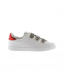 Chaussures FEMME VICTORIA TENIS PIEL VELCROS ANIMAL blanco_1125200 front