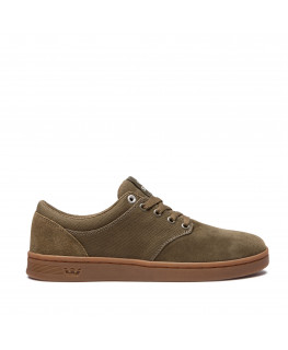 Chaussures SUPRA CHINO COURT olive gum_08058-358-M front