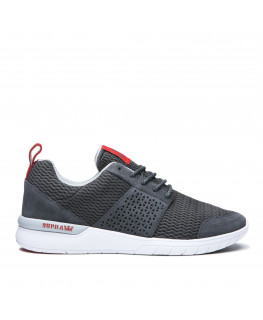 Chaussures SUPRA SCISSOR dk grey risk red white_08027-058-M front