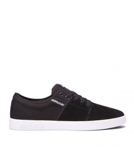 Chaussures SUPRA STACKS II black grey white_08183-045-M front