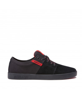 Chaussures SUPRA STACKS II black risk red black_08183-012-M front