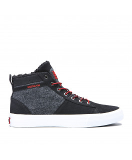 Chaussures SUPRA STACKS MID black risk red white_05903-005-M front