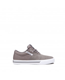 Chaussures SUPRA STACKS VULC II grey white_58193-021-M front
