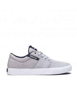 chaussures supra stacks vulc ii lt grey navy white 08194-035-m