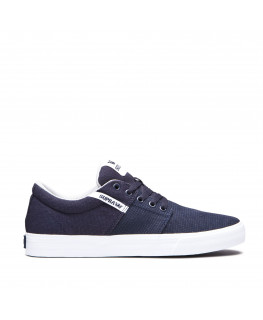chaussures supra stacks vulc ii navy white 08194-401-m
