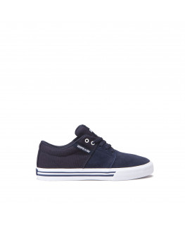 Chaussures SUPRA STACKS VULC II navy white_58193-401-M front