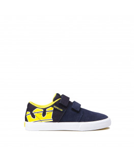 Chaussures SUPRA STACKS VULC II V navy yellow white_58334-489-M front