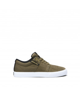 Chaussures SUPRA STACKS VULC II olive black white_58193-314-M front