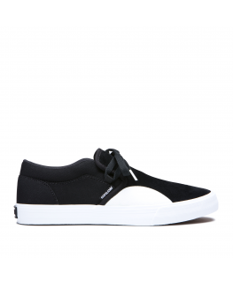 Chaussures SUPRA CUBA black white_08106-002-M front
