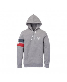 SWEAT CAPUCHE SUPRA S BAND PULLOVER heather grey_102607-034 front