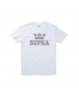 Tee Shirt SUPRA ABOVE REGULAR SS TEE white spot_103437-163 front