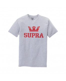 Tee shirt SUPRA ABOVE REGULAR SS TEE grey heather red_103437-043 front