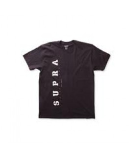 tee shirt supra heritage regular tee black white 103903-002