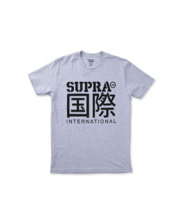 Tee Shirt SUPRA INT CHARACTERS grey heather_102218-020 front