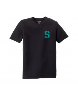 Tee shirt SUPRA SSTENCIL black teal_102568-021 front