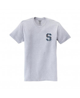 Tee Shirt SUPRA SSTENCIL grey heather geo camo_102568-020 front