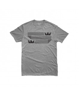 Tee shirt SUPRA LINKED CROWN REG SS grey heather 101866-034