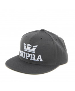Casquette SUPRA ABOVE SNAP BACK HAT charcoal white white_C3501-052