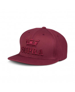 Casquette SUPRA ABOVEIISNAPBACKHAT burgundy_C3072-607 front