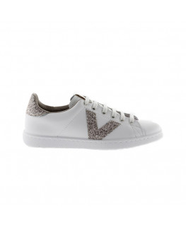 Chaussures FEMME VICTORIA TENIS PIEL/GLITTER nude_1125188 front