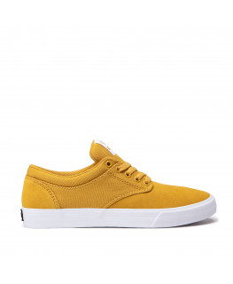 Chaussures SUPRA CHINO golden white_08051-729-M front