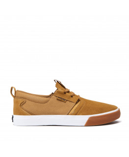 Chaussures SUPRA FLOW tan white gum_08325-291-M front