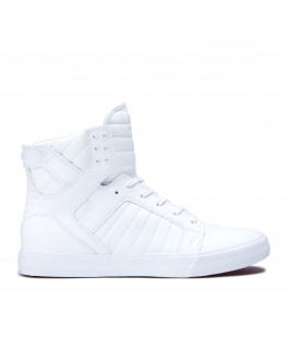 Chaussures SUPRA SKYTOP white  white  red_08003-149-M front