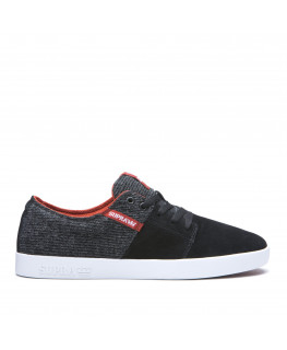 Chaussures SUPRA STACKS II black bossa nova white_08183-062-M front