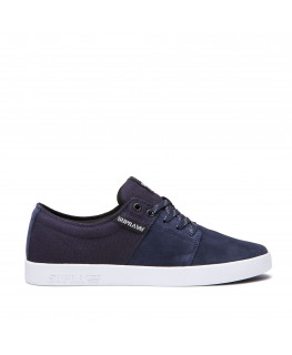 Chaussures SUPRA STACKS II navy white white_08183-472-M front