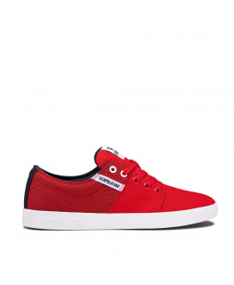 chaussures supra stacks ii risk red navy white 08184-690-m